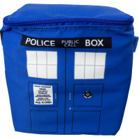 Keep your drinks ice cold in the summertime with this roomy TARDIS cooler bag!