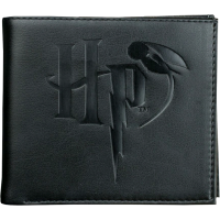 Harry Potter - Logo Embossed Black Wallet