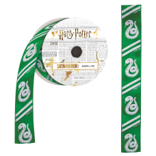 Harry Potter - Slytherin Satin Ribbon (5 metres)