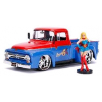 DC Bombshells - Supergirl 1956 Ford F100 1:24 Scale Hollywood Rides Diecast Vehicle