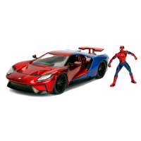 Spider-Man - 2017 Ford GT 1:24 Scale Hollywood Rides Diecast Vehicle