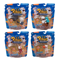 Rabbids - Rabbids Invasion Sounds and Action 3inch Action Figure Bundle (Set of 4)