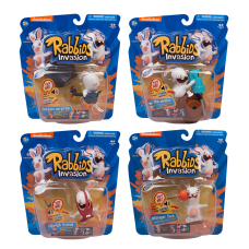 Rabbids - Rabbids Invasion Sounds and Action 3 Inch Action Figure Bundle (Set of 4)