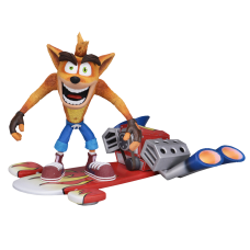 Crash Bandicoot - Crash Bandicoot with Hoverboard 7 Inch Scale Action Figure