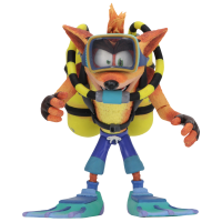Crash Bandicoot: Warped - Scuba Crash Deluxe 7 Inch Scale Action Figure