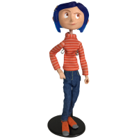 Coraline - Coraline in Striped Shirt and Jeans 7 Inch Action Figure