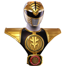 Mighty Morphin' Power Rangers - White Ranger 1:1 Scale Life-Size Bust
