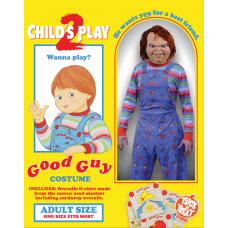 Child's Play 2 - Good Guys Doll Chucky Deluxe Adult Costume (One Size Fits Most)