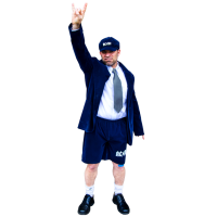 AC/DC - Angus Young Adult Costume (One Size Fits Most)