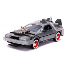 Back to the Future 3 - Time Machine Raw Metal 1:24 Scale Hollywood Ride