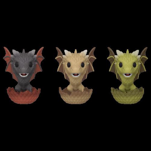 Game of Thrones - Drogon, Viserion, & Rhaegal- 3 Pack Pop! Vinyl Figure (2020 Spring Convention Exclusive)