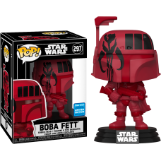 Star Wars - Boba Fett with Mandalorian Symbol Pop! Vinyl Figure in Pop! Protector (2020 Wondrous Convention Exclusive)