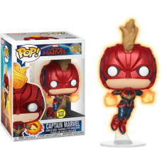 Captain Marvel (2019) - Flying Captain Marvel Glow in the Dark Pop! Vinyl Figure