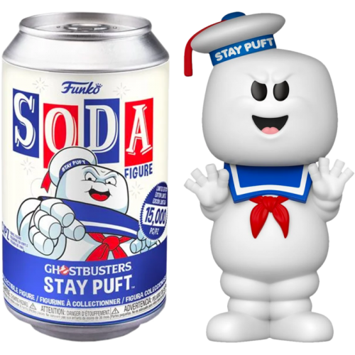 Ghostbusters - Stay Puft Vinyl SODA Figure in Collector Can