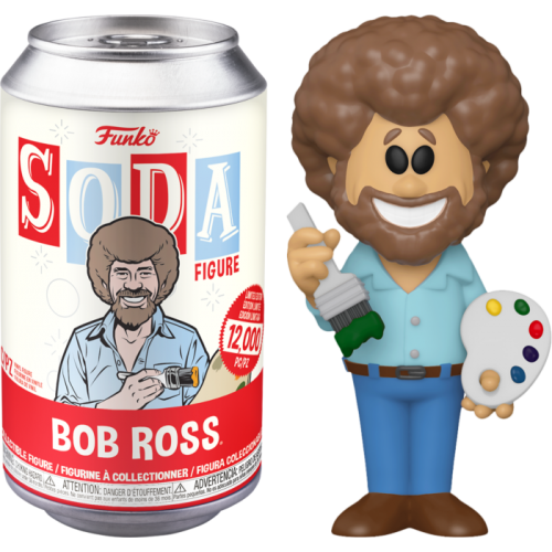 The Joy Of Painting - Bob Ross Vinyl SODA Figure in Collector Can
