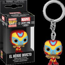 Marvel: Lucha Libre Edition - El Heroe Invicto Iron Man Pocket Pop! Vinyl Keychain