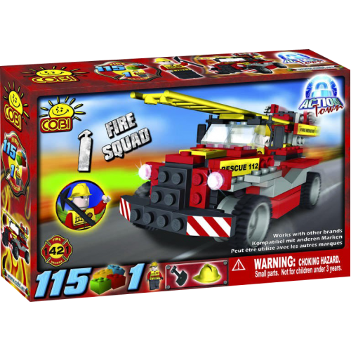 Action Town - 115 Piece Fire Squad Construction Set