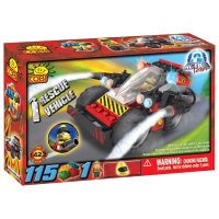 Action Town - 115 Piece Rescue Vehicle Construction Set