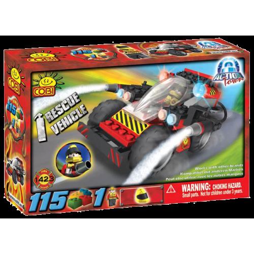 Action Town - 115 Piece Rescue Vehicle Construction Set
