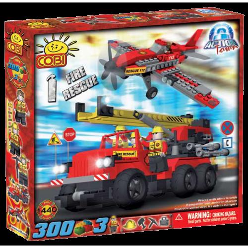 Action Town - 300 Piece Fire Rescue Construction Set