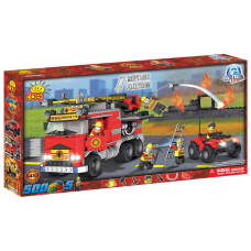 Action Town - 500 Piece Fire Rescue Brigade Construction Set