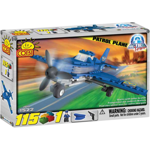 Action Town - 115 Piece Patrol Plane Construction Set