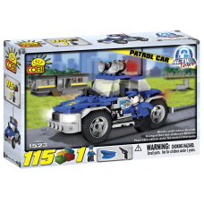 Action Town - 115 Piece Police Patrol Car Construction Set