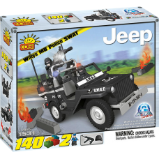 Action Town - 140 Piece Willys MB Jeep Police SWAT Car Construction Set