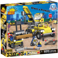 Action Town - 330 Piece Construction Crane and Forklift Construction Set