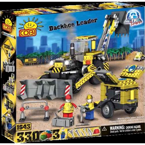 Action Town - 330 Piece Construction Backhoe Loader Construction Set