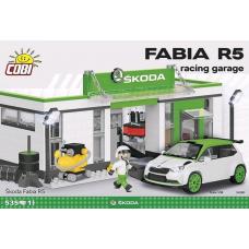 Skoda - Skoda Fabia R5 Racing Garage 525 piece Construction Set