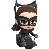 Batman: The Dark Knight Rises - Catwoman with Batpod Cosbaby (S) Hot Toys Action Figure Collectible Set