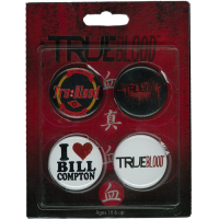 True Blood - 4 Pack of Pins / Buttons Set #1