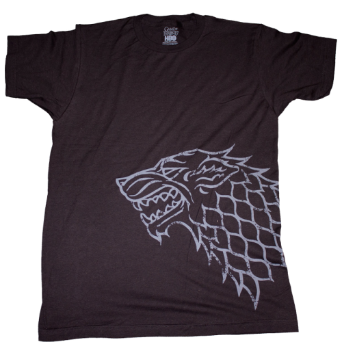 Game of Thrones - Stark Distressed Sigil Black Male T-Shirt
