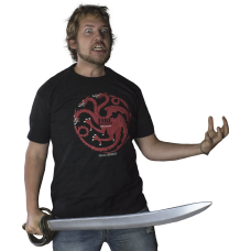Game of Thrones - Targaryen Fire and Blood Black Male T-Shirt