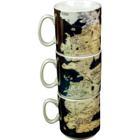 Game of Thrones - Westeros Map Stacked Mugs (Set of 3)