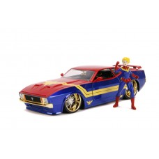 Captain Marvel - 1973 Ford Mustang Mach 1 1:24 Scale Hollywood Ride
