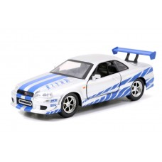 Fast and Furious - 2002 Nissan Skyline GTR R34 Silver One-Third2 Scale Hollywood Ride