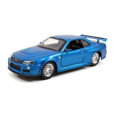 Fast and Furious - 2002 Nissan Skyline GTR R34 Blue One-Third2 Scale Hollywood Ride