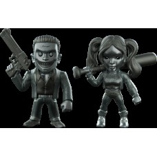 Suicide Squad - Harley Quinn and Joker 4 Inch Metals Die-Cast Bare Metal Action Figure 2-Pack (2016 SDCC Exclusive)