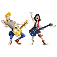 Bill & Ted's Excellent Adventure - Bill & Ted 6 Inch Scale Toony Classics Action Figure 2-Pack