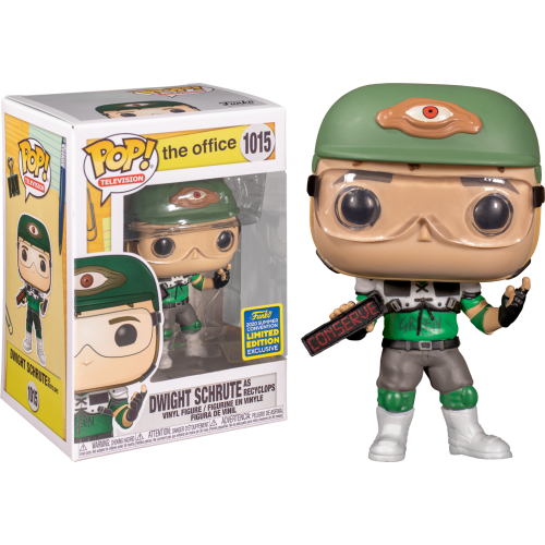 The Office - Dwight Schrute as Recyclops v2 Pop! Vinyl Figure (2020 Summer Convention Exclusive)