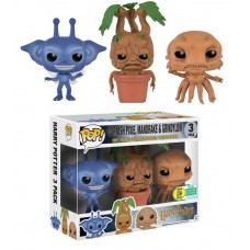 Harry Potter - Cornish Pixie, Mandrake and Grindylow Pop! Minis Vinyl Figure 3-Pack (Out of the Box)