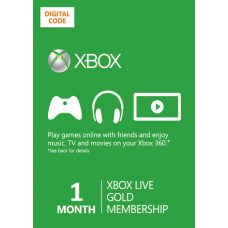 Xbox Live Gold 1 Month Membership Card Xbox 360 and Xbox One Digital Download