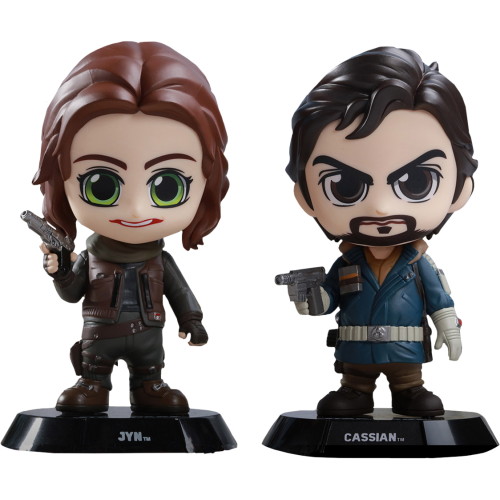 Star Wars: Rogue One - Jyn and Cassian Cosbaby 3.75 Inch Hot Toys Bobble Head Figure 2-Pack