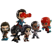 Justice League (2017) - Justice League Cosbaby 3.75 Inch Hot Toys Bobble Head Figure 6-Pack