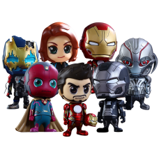 Avengers 2: Age of Ultron - Cosbaby 3.75 Inch Hot Toys 7 Figure Collectable Set (Series 2)
