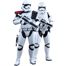 Star Wars Episode VII: The Force Awakens - First Order Stormtrooper Officer and Stormtrooper 1/6th Scale Hot Toys Action Figures (Set of 2)