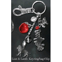 Twilight - Key Ring / Bag Clip Lion and Lamb