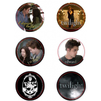 Twilight - Pin Set of 6 Style B Cullen Crest